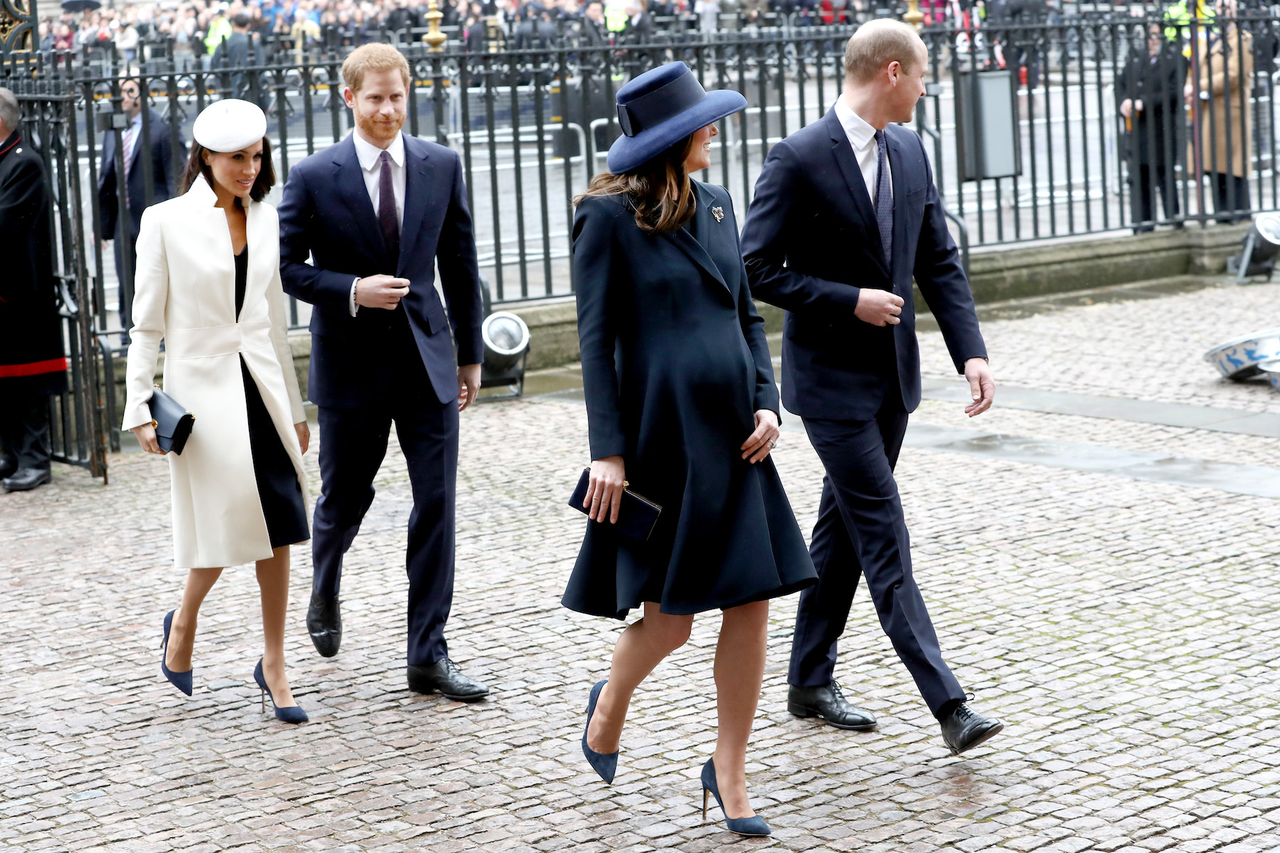 Kate Middleton and Meghan Markle Matching Blue Pumps