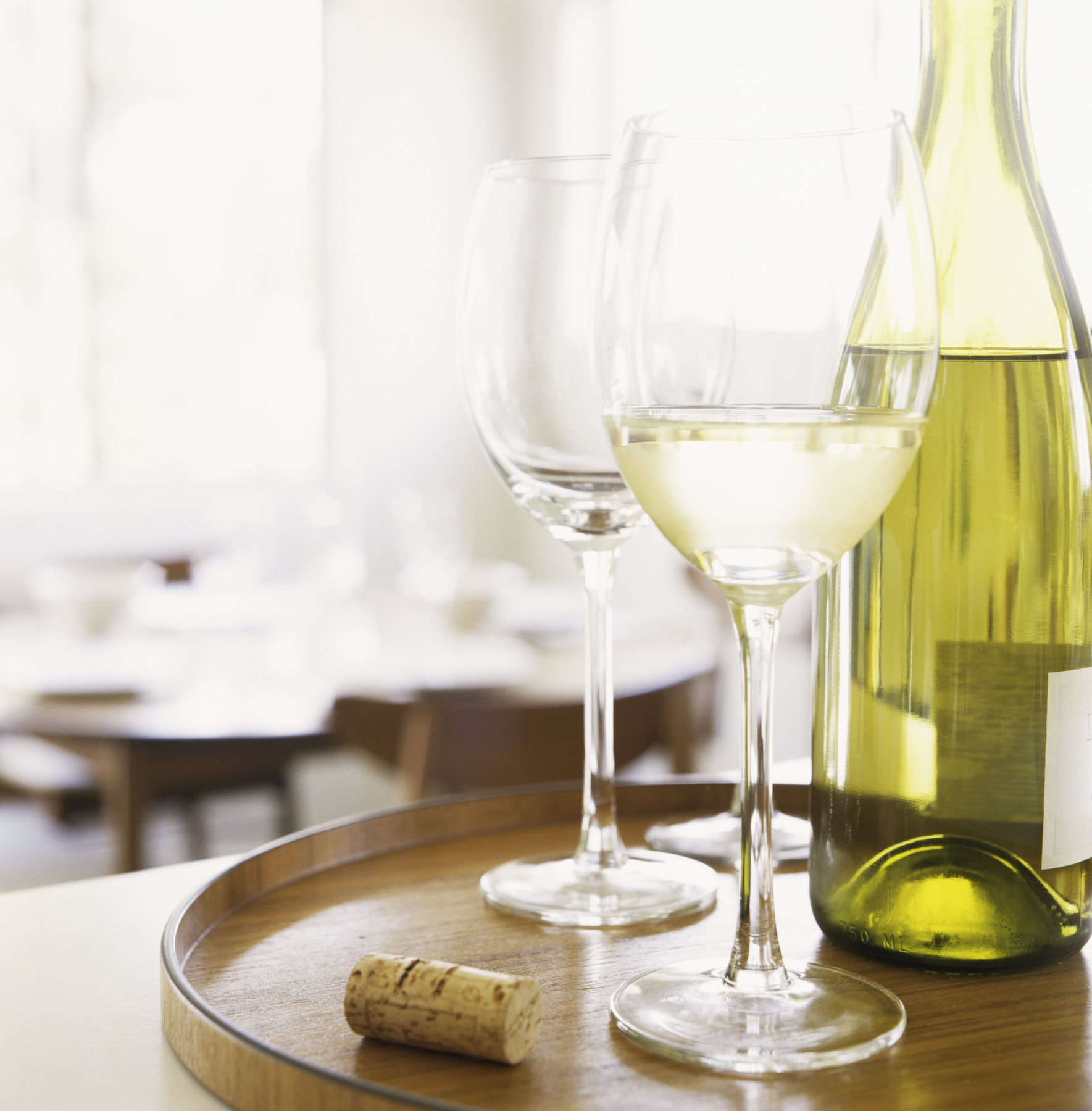 Pinot Grigio Glass and Bottle