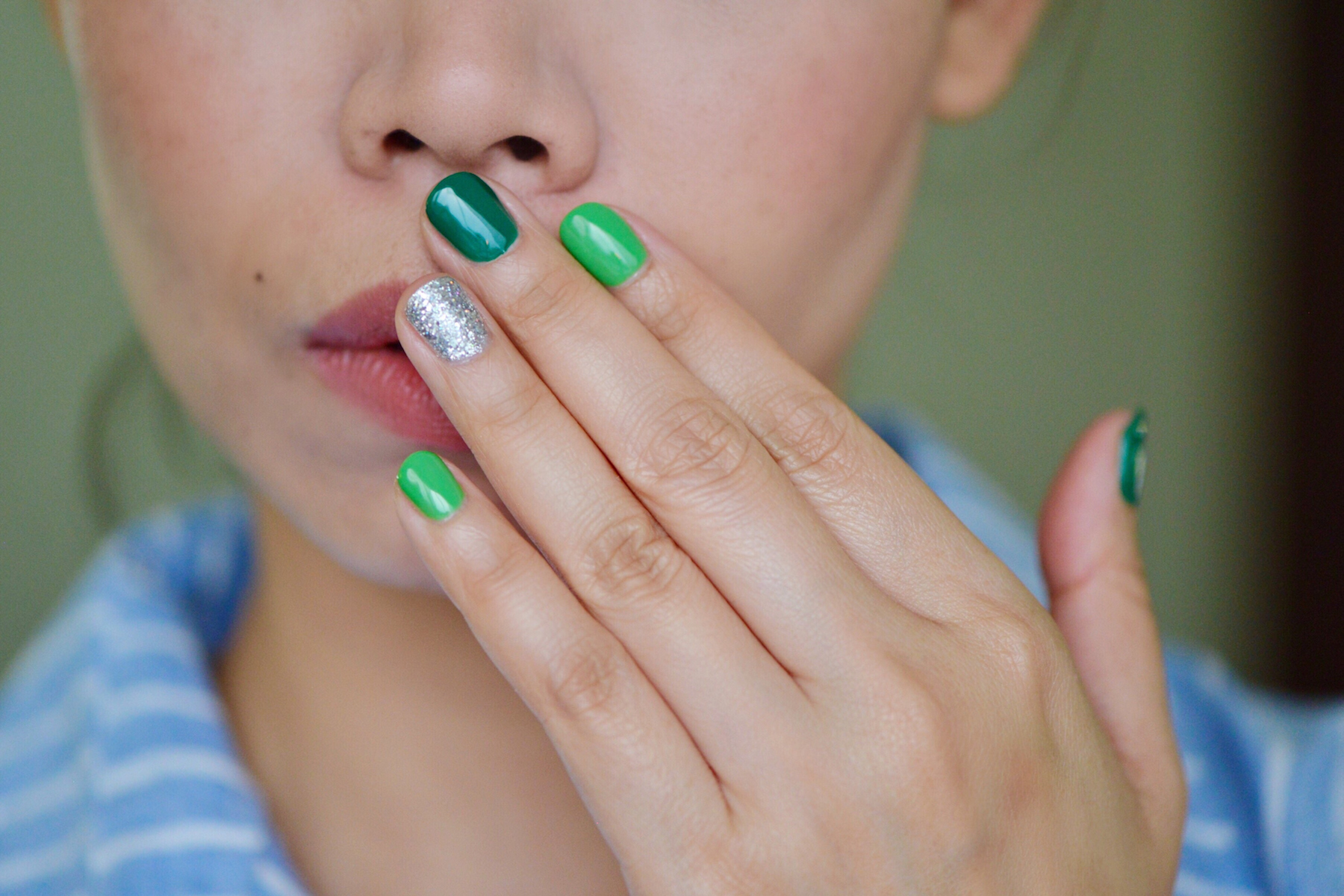 St Patricks Day Green Nails