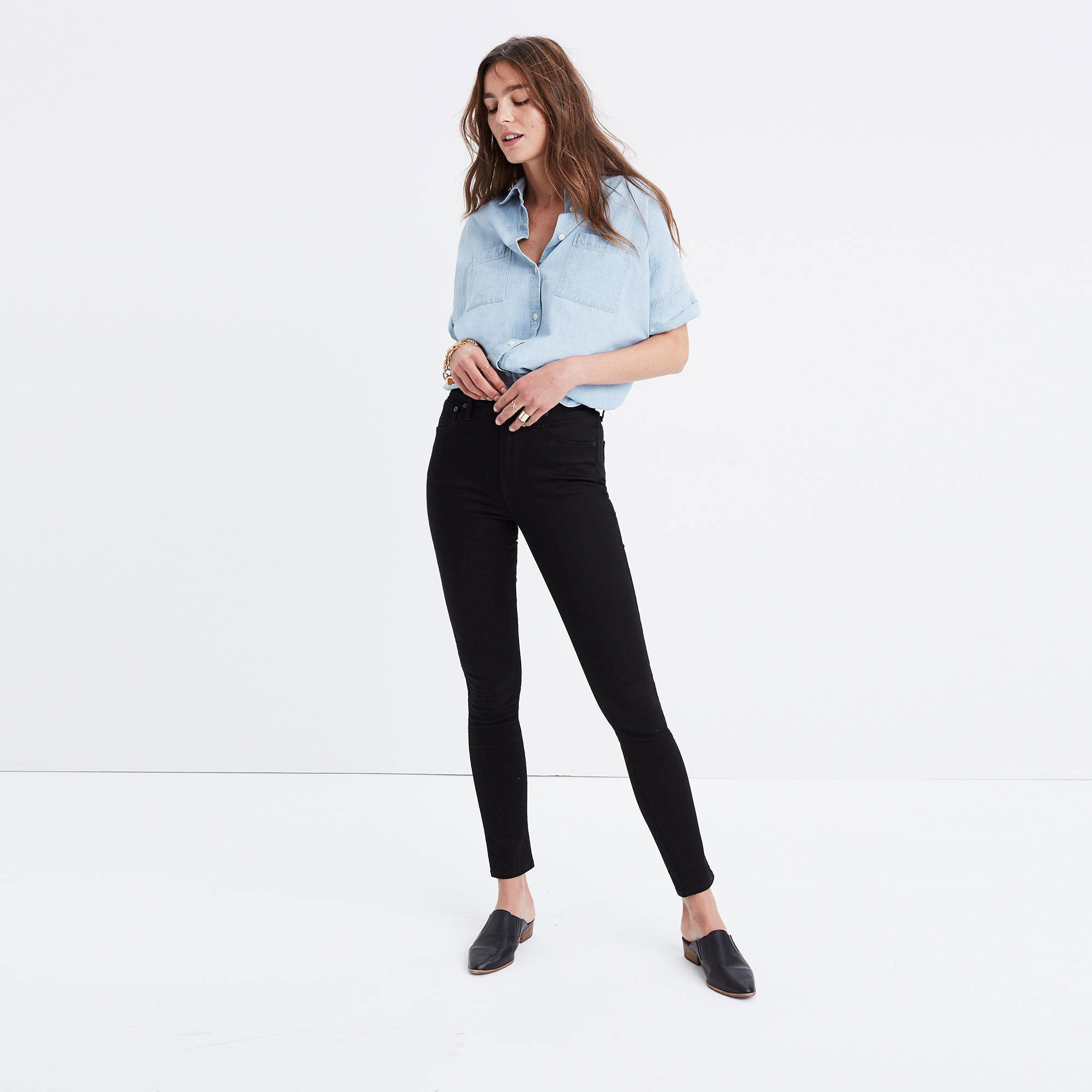 High-rise skinny jeans - tall