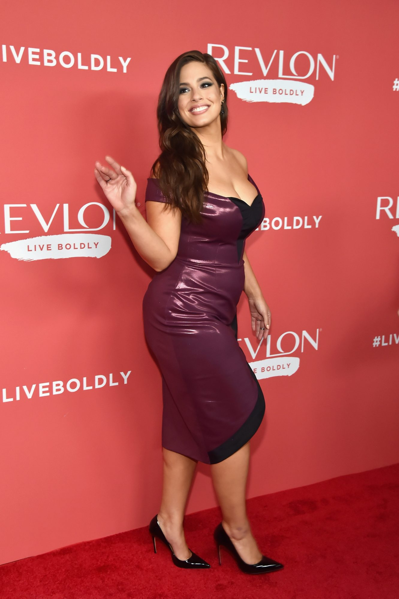 """Ashley Graham at the Revlon """"Live Boldly"""" Launch Party"""