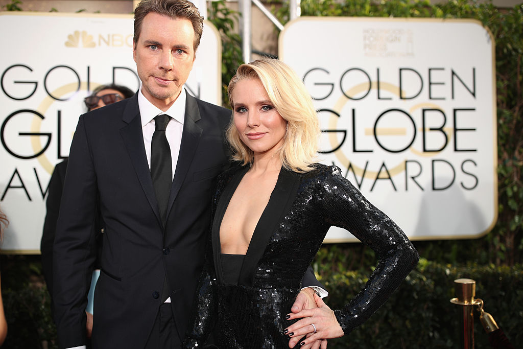 Dax Shepard and Kristen Bell at the Golden Globes