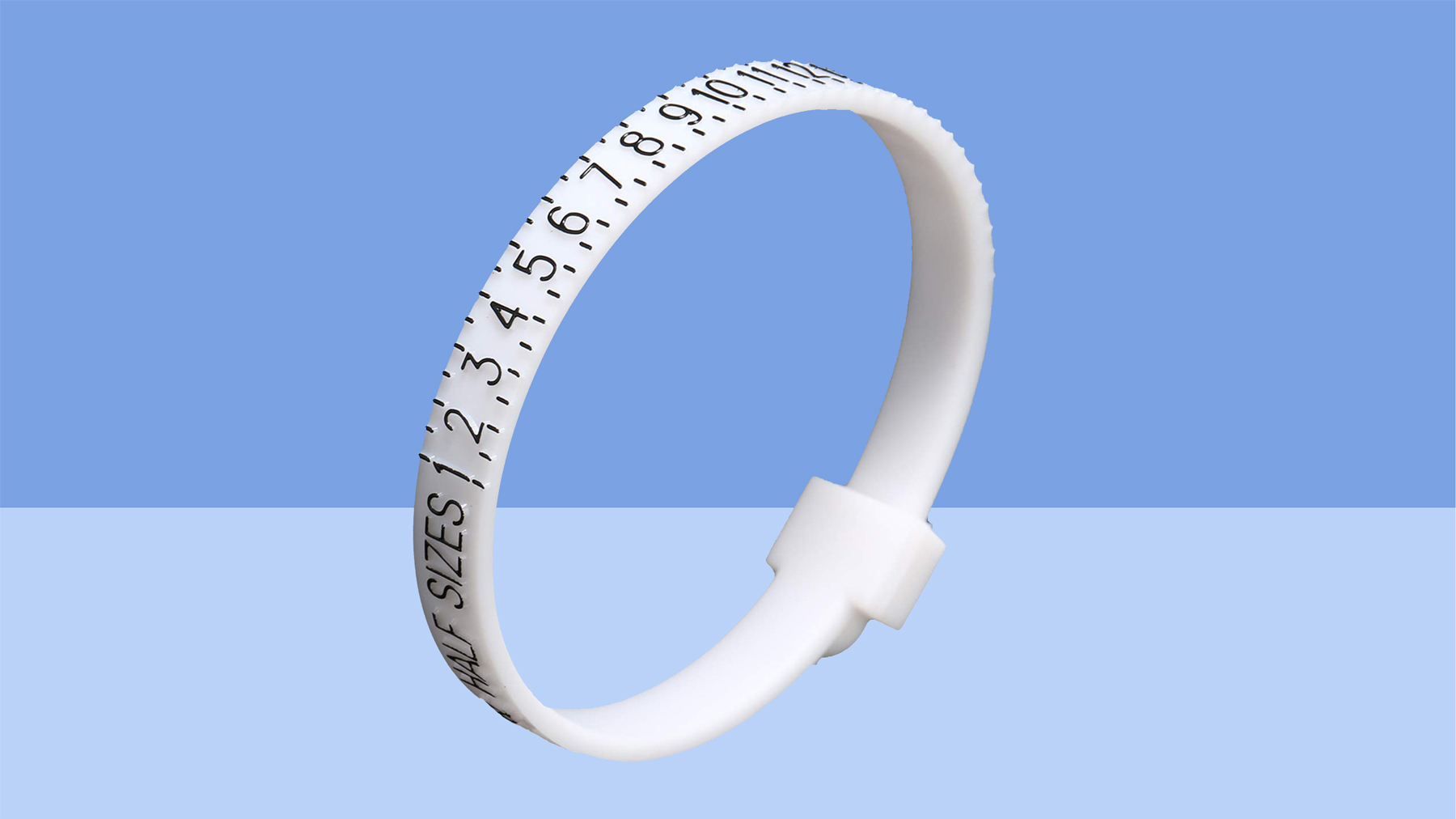 Measurement tool and ring size chart for men and women