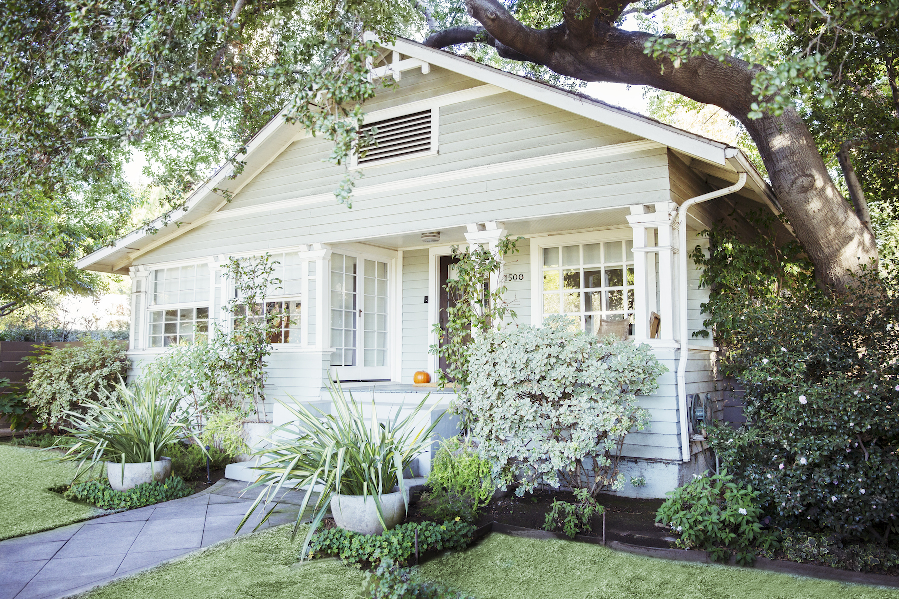Beautiful Front Porch with plants and flowers