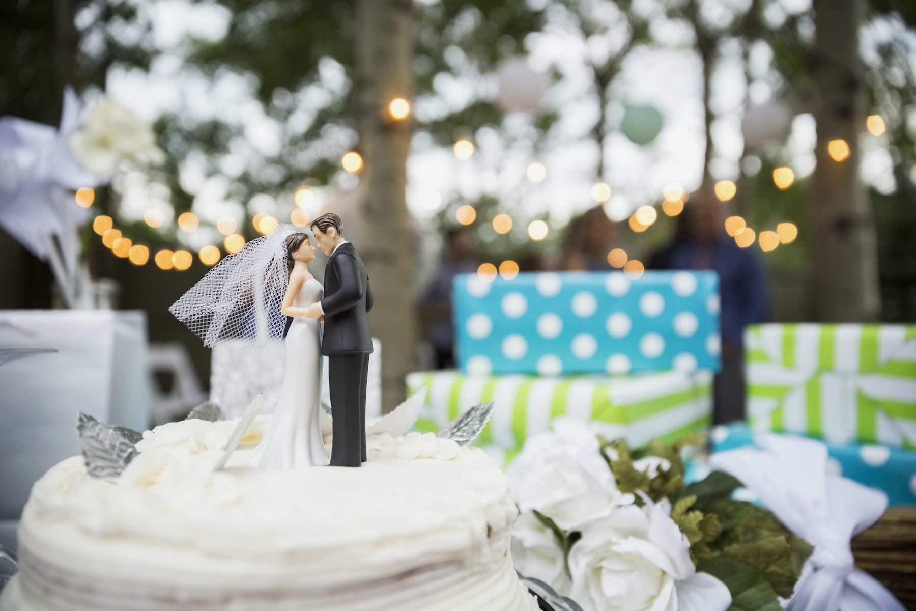Wedding Cake Topper With Presents