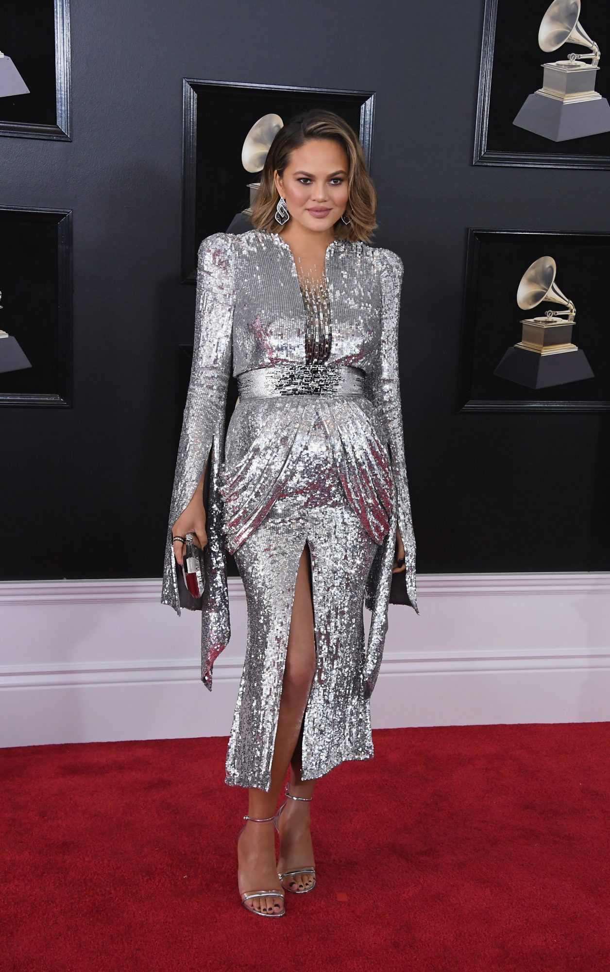 Chrissy Teigen Pregnant at Grammy Awards