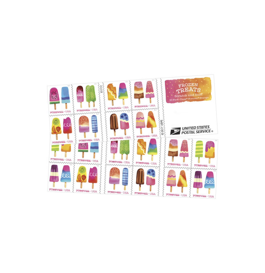 USPS Frozen Treats Scratch-and-Sniff Stamps