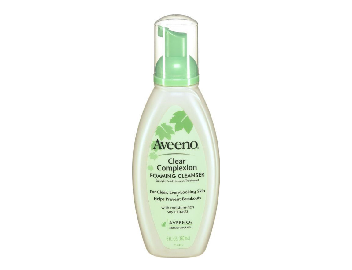 Aveeno Clear Complexion Foaming Cleanser in Cheap Makeup and Beauty Products
