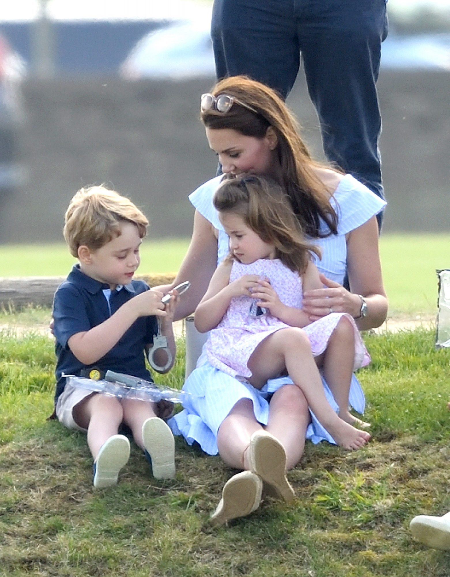Kate Middleton, Princess Charlotte, and Prince Charles at Maserati Royal Charity Polo Trophy