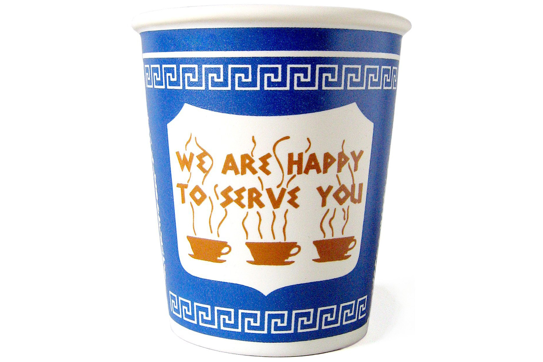 The Original NYC Greek Ceramic Coffee Cup for Amazon Prime Father's Day