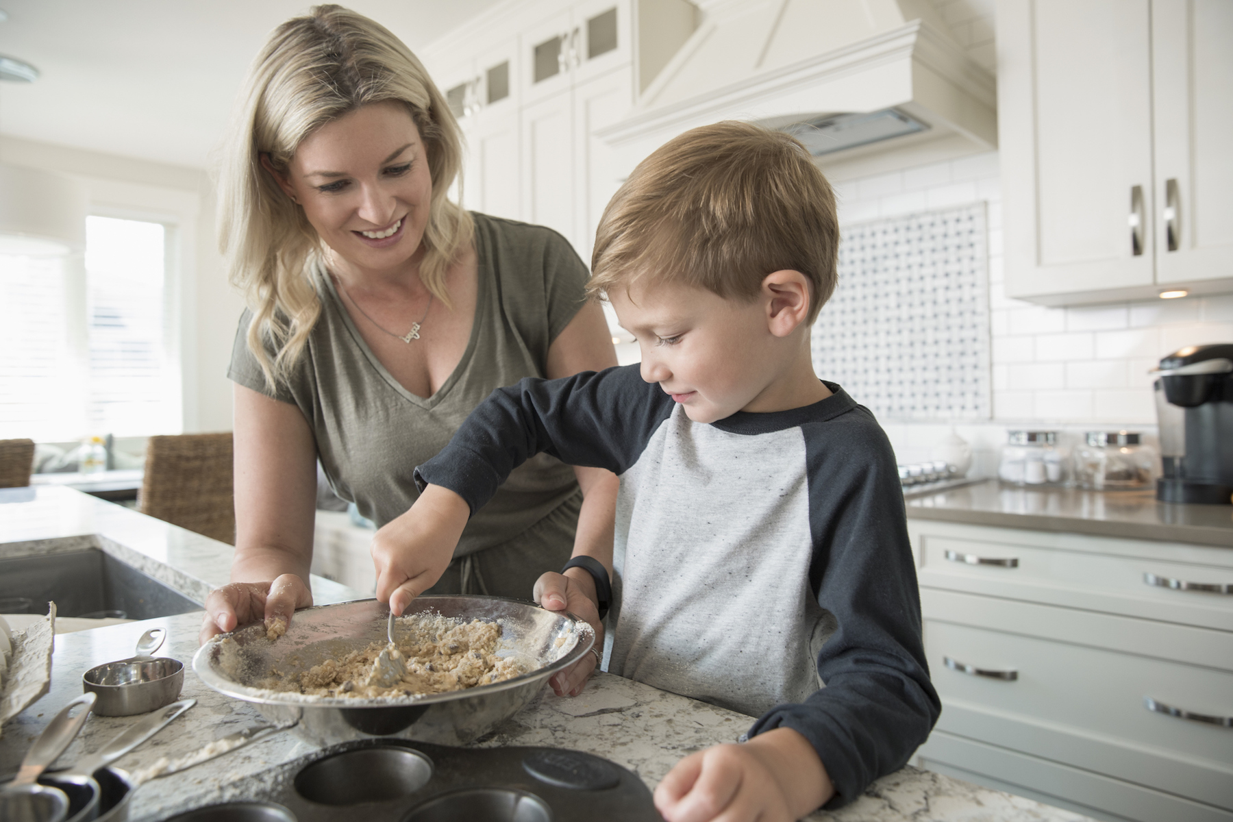 Mom and Son Baking