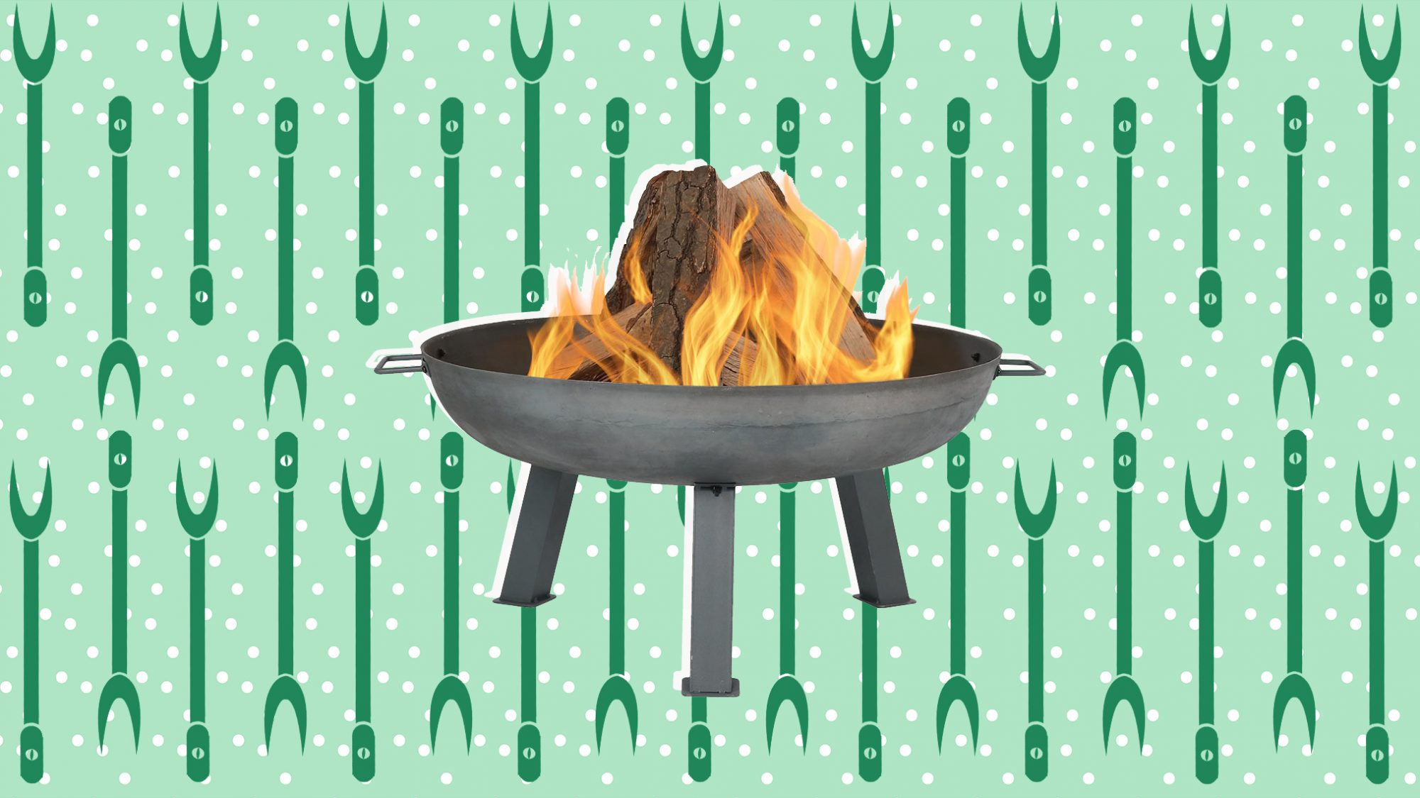 How to Camp Out in Your Own Backyard, fire pit