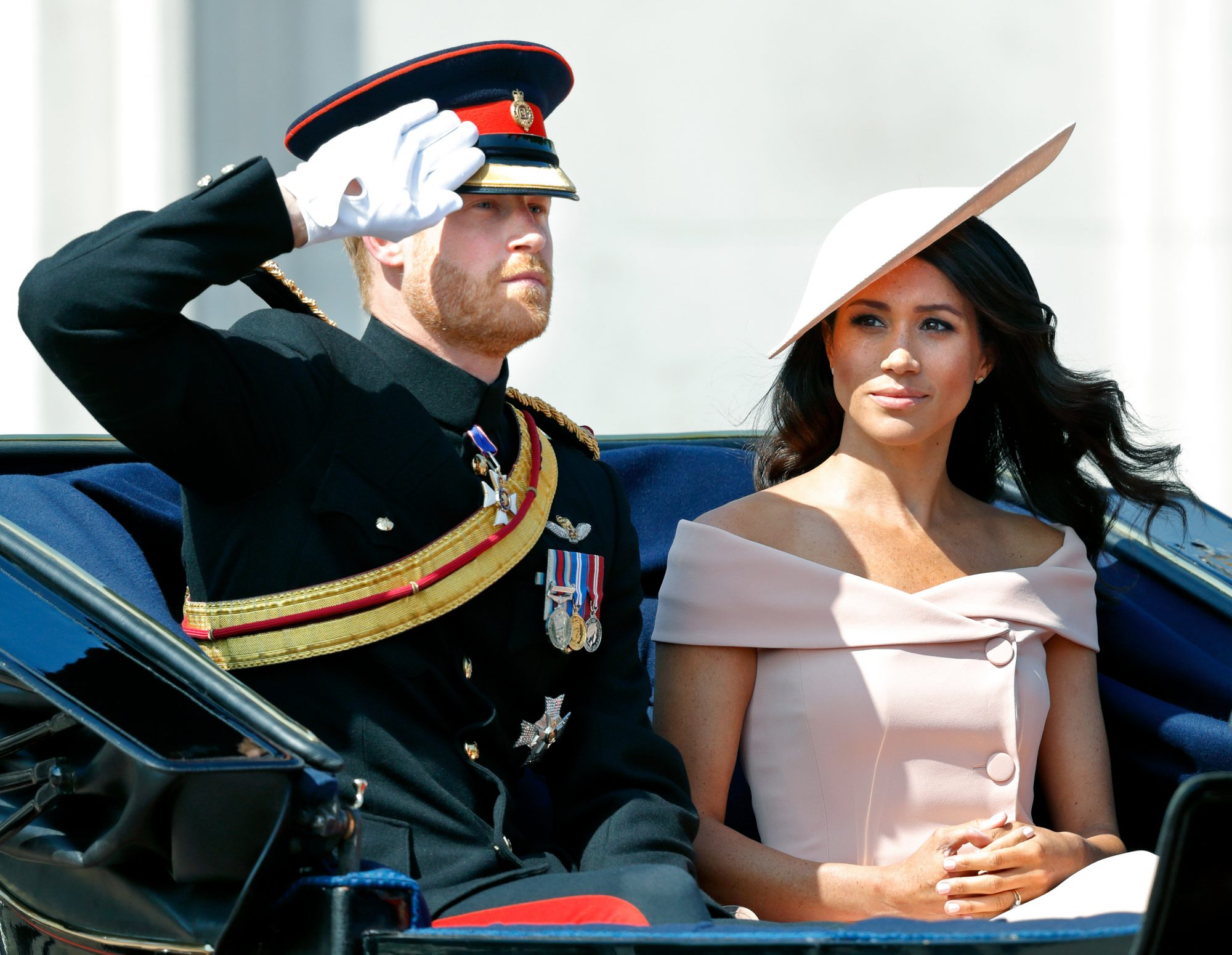 Prince Harry and Meghan Markle Trooping The Colour 2018