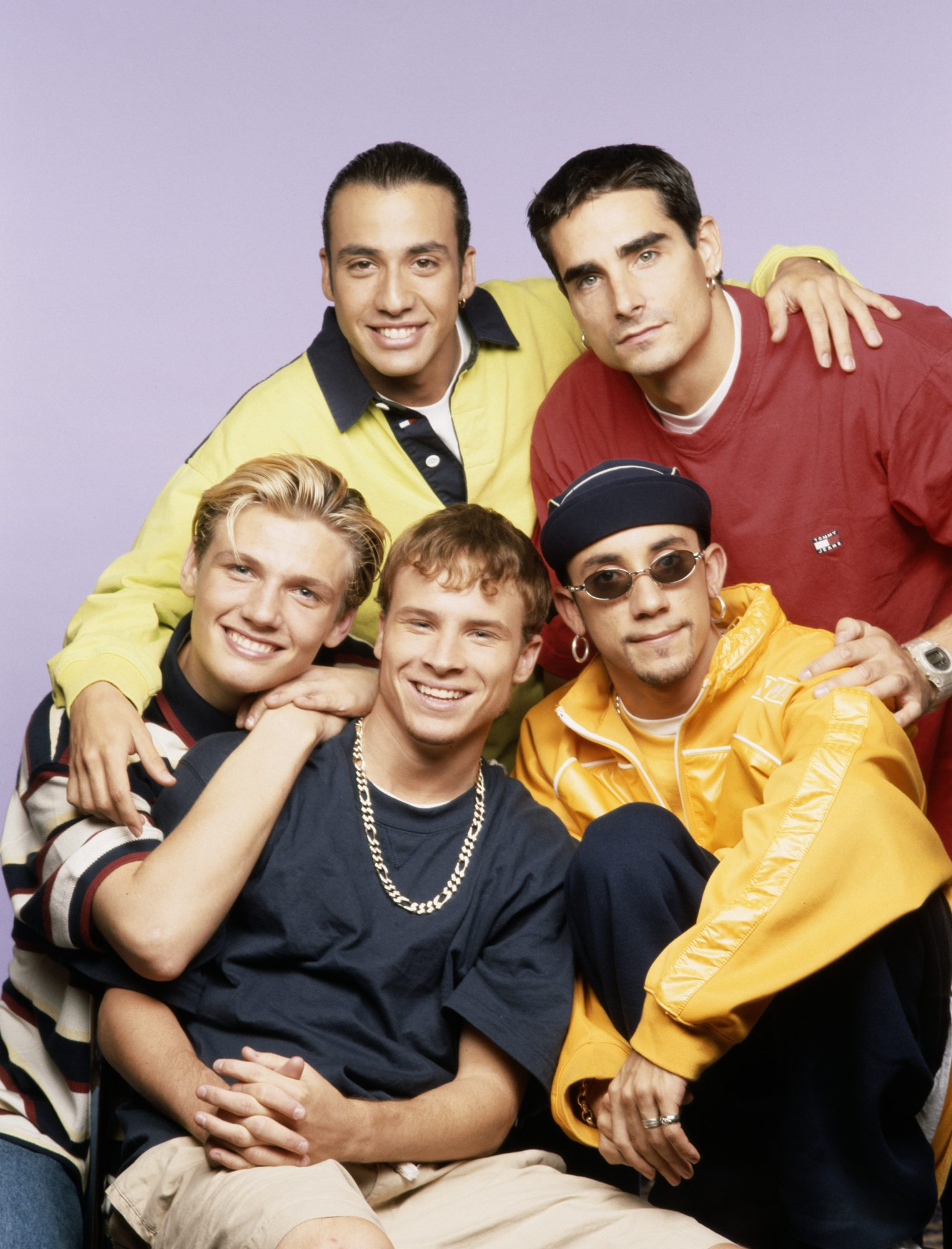 American boy band Backstreet Boys, circa 1995.