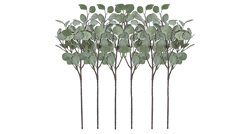 Silver Dollar Eucalyptus Leaf Silk Stems