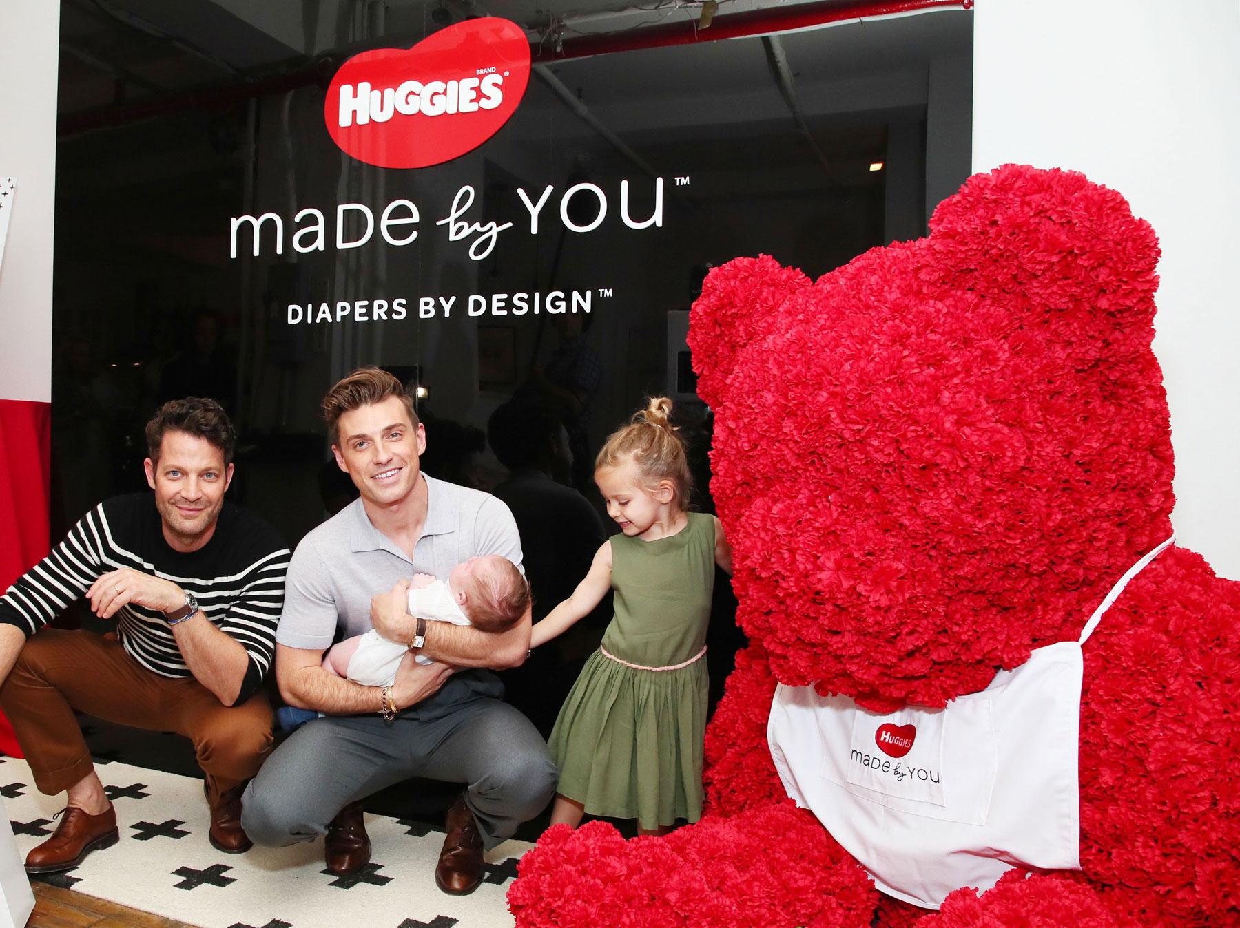 Nate Berkus and Jeremiah Brent with daughter Poppy and son Oskar