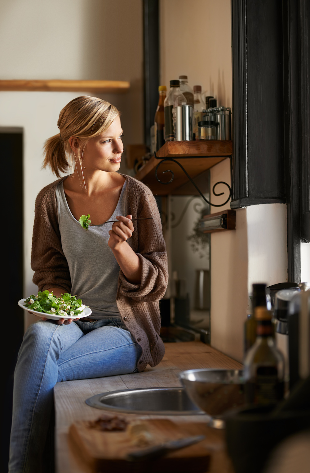 Woman Eating The Whole 30 Diet