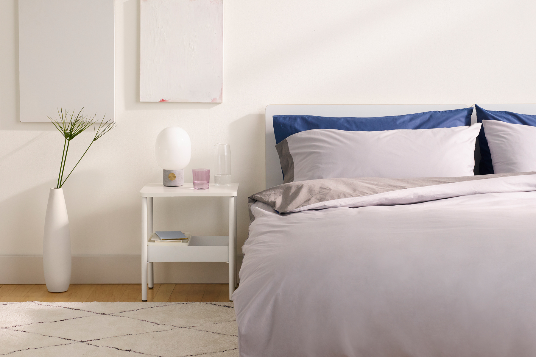 Casper Humidity Fighting Duvet cover review - bed with duvet cover