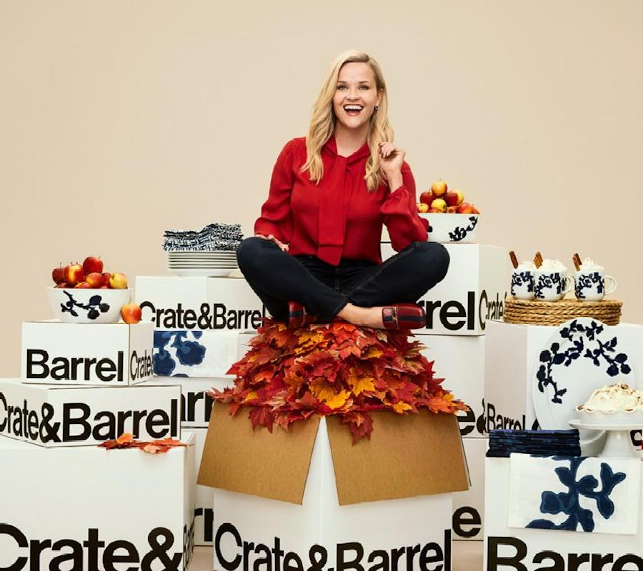 Reese Witherspoon presenting her new collection for Crate & Barrel