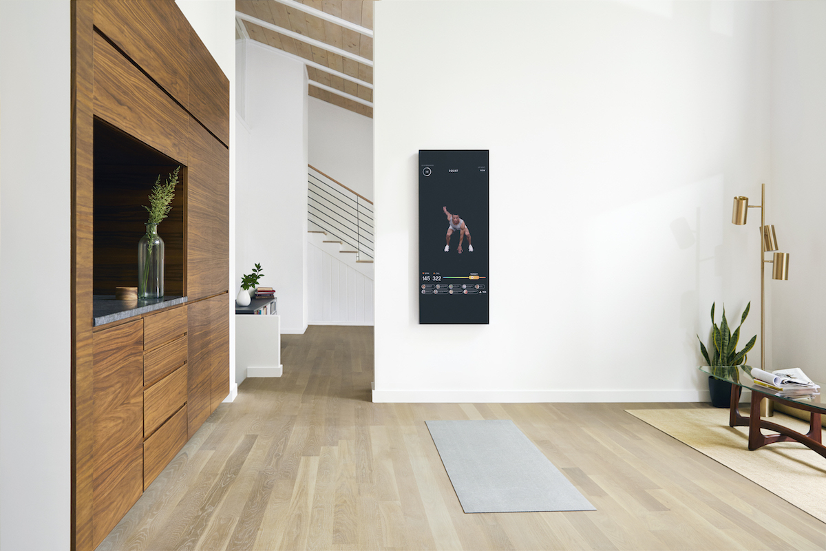 home fitness mirror display