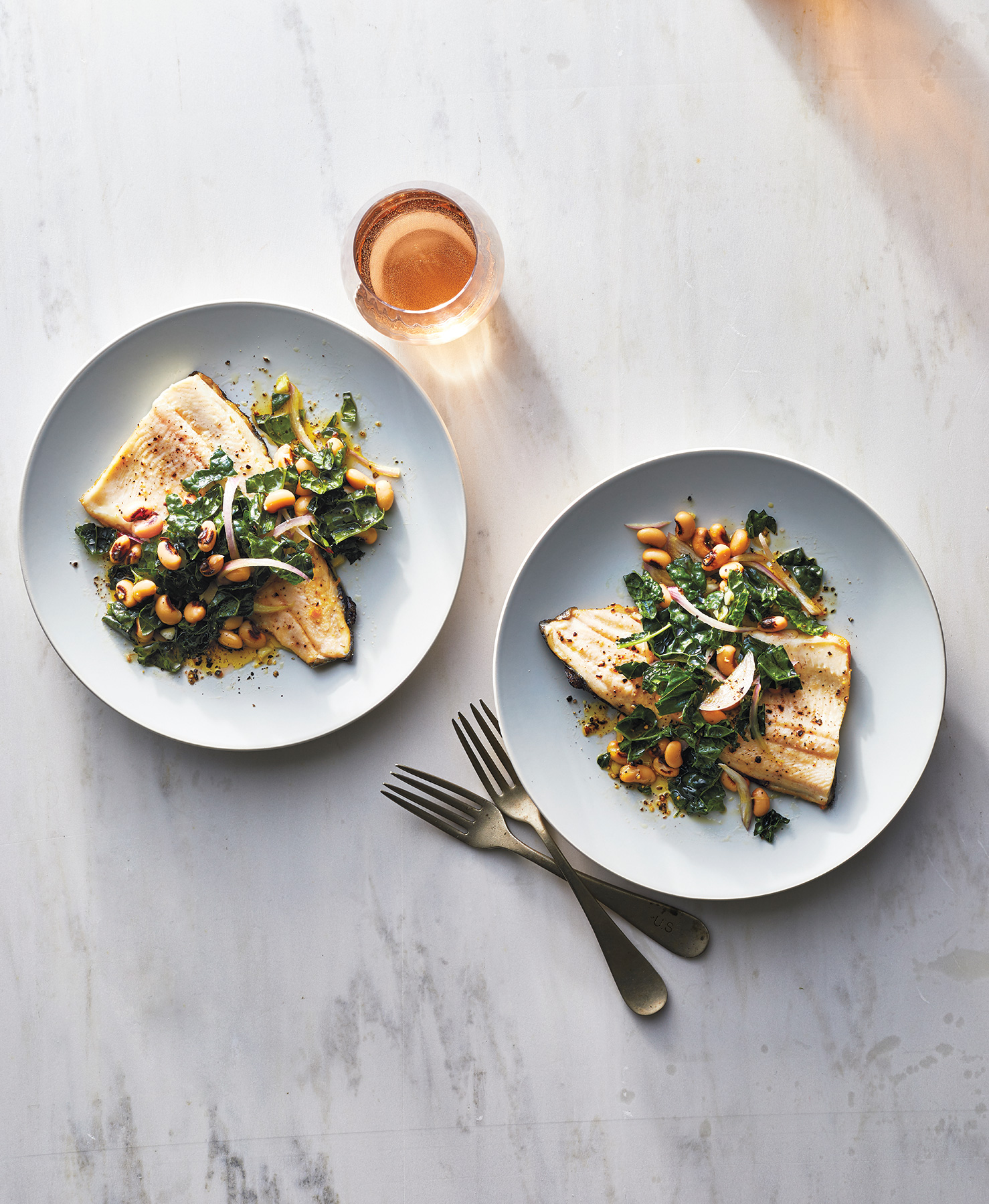 Seared Trout and Black-Eyed Pea Salad