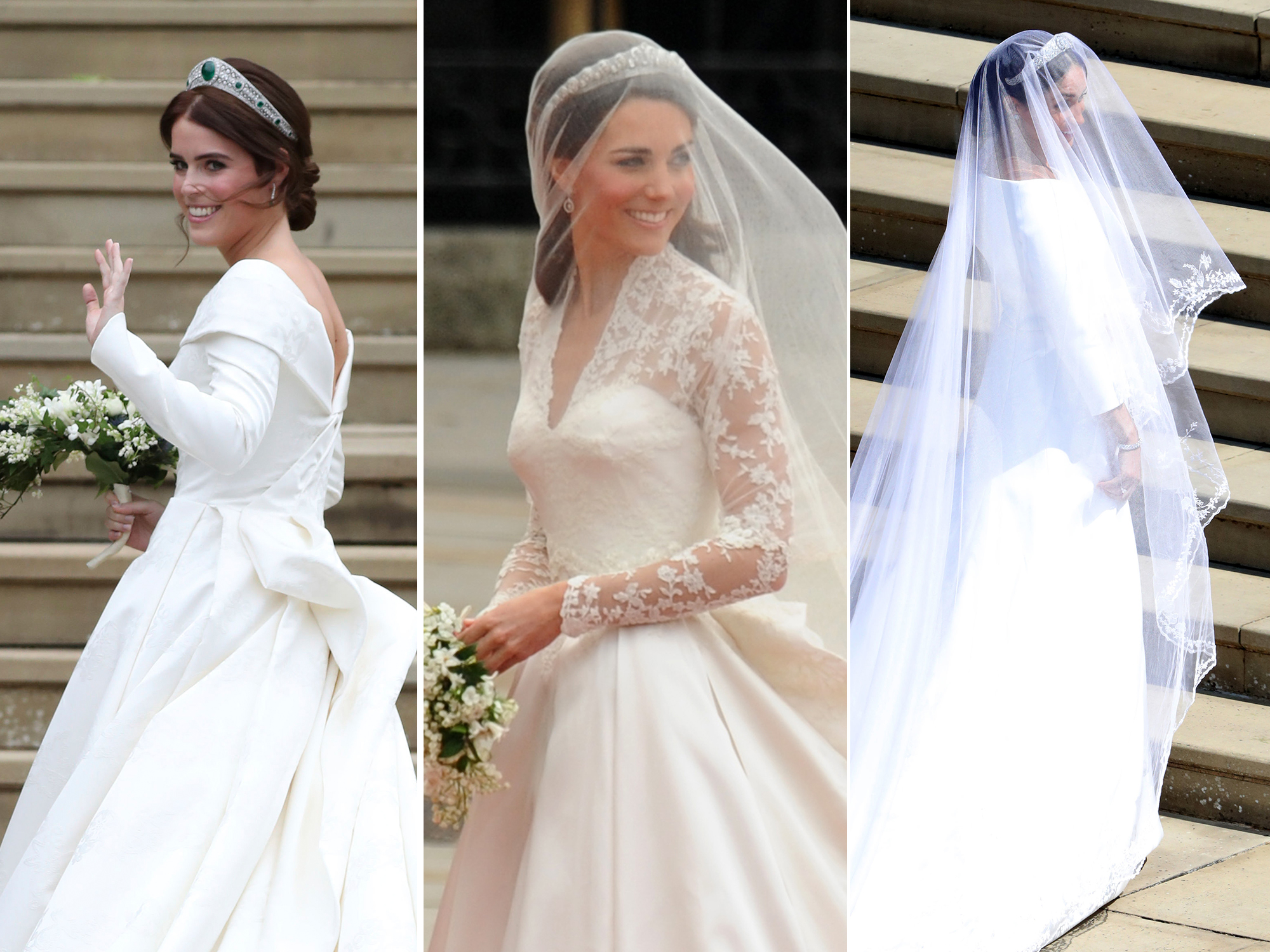 How Princess Eugenie's Wedding Dress Differs from Kate Middleton and Meghan Markle's