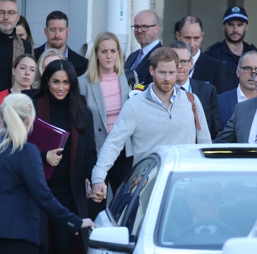 Meghan Markle and Prince Harry Arriving in Sydney