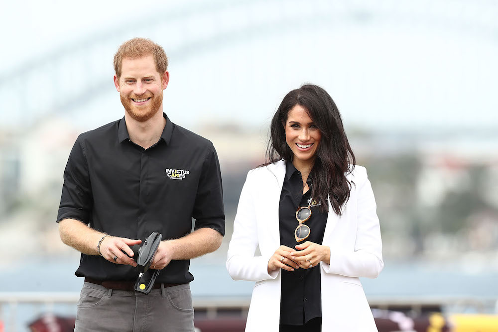 Meghan Markle and Prince Harry at an Invictus Sailing Event
