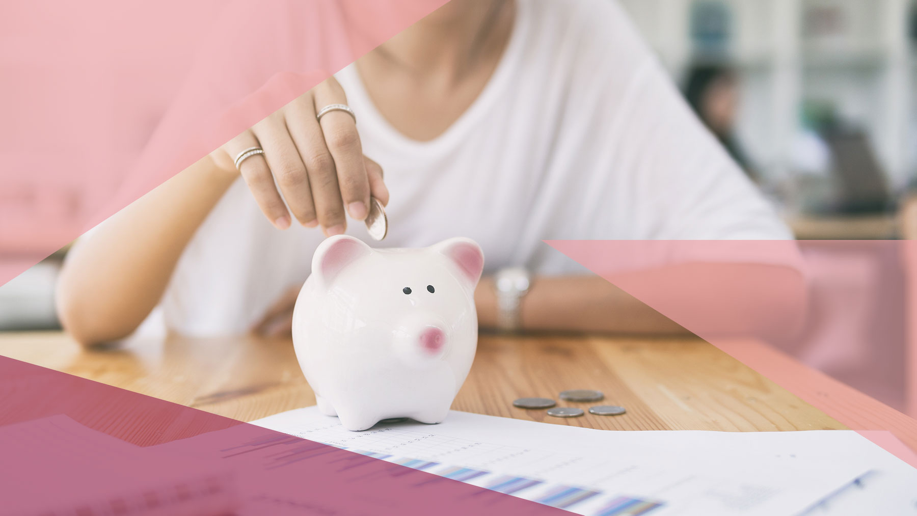 Woman putting money in piggy bank: 6 Little Ways You Can Save Every Day for Your Second Home