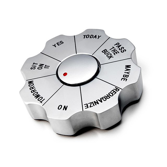 White elephant gift ideas - Decision Paperweight
