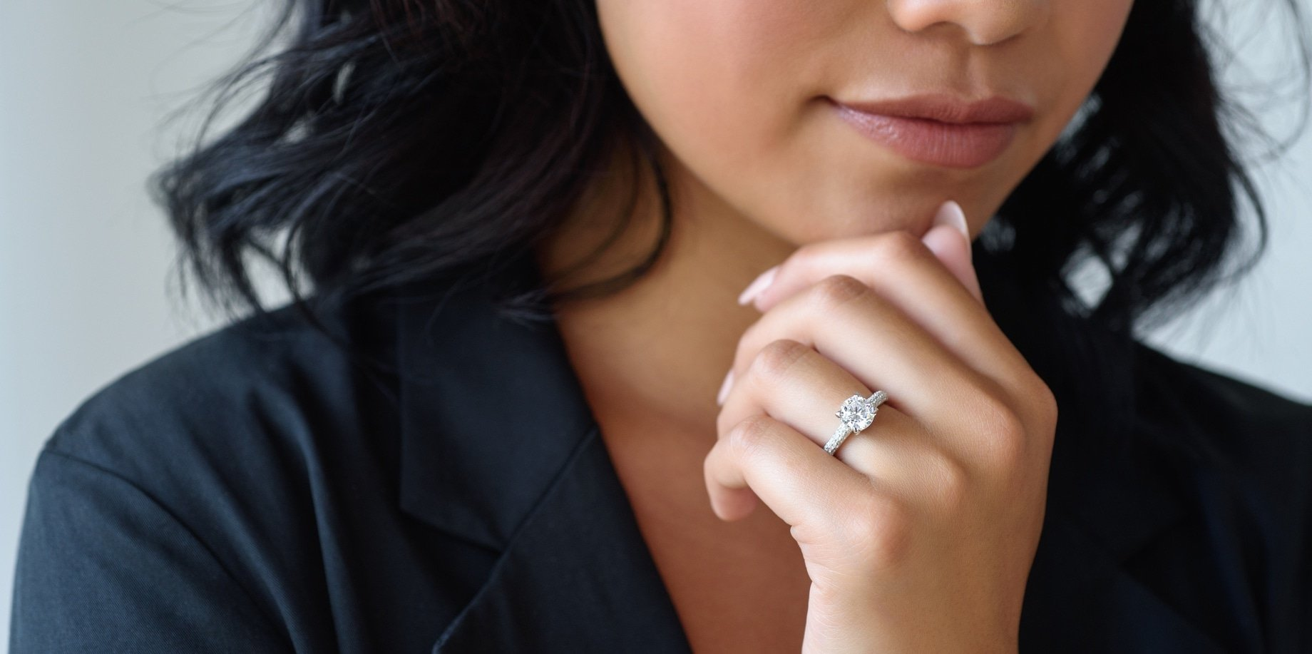 Lab Grown Diamond Engagement Ring from MiaDonna