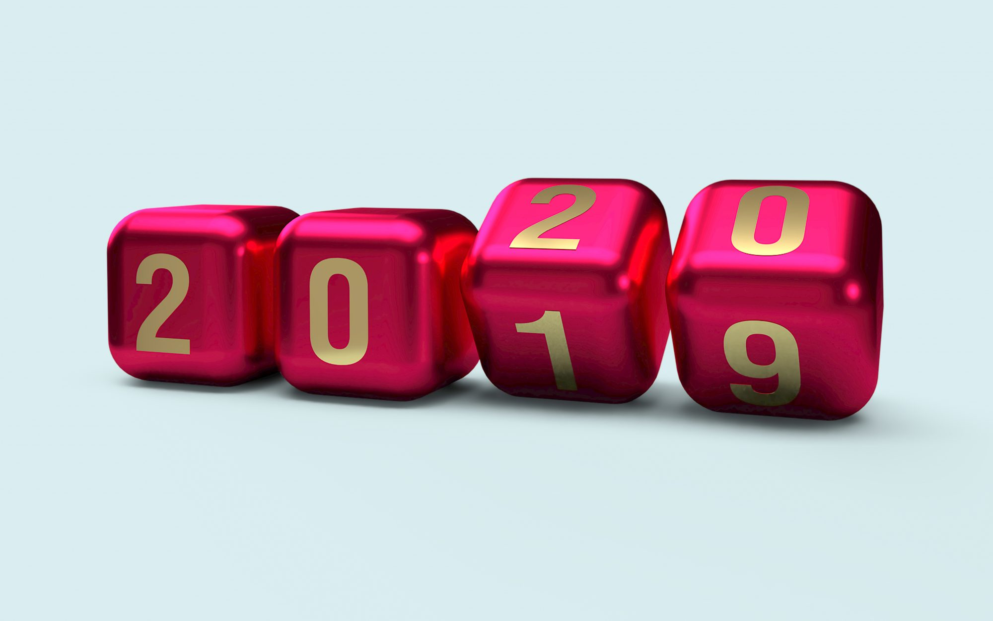 calendar changing from 2019 to 2020