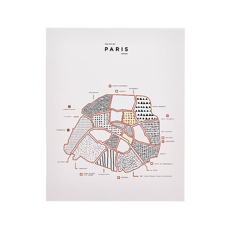 Gifts for Couples, Roam Map Print