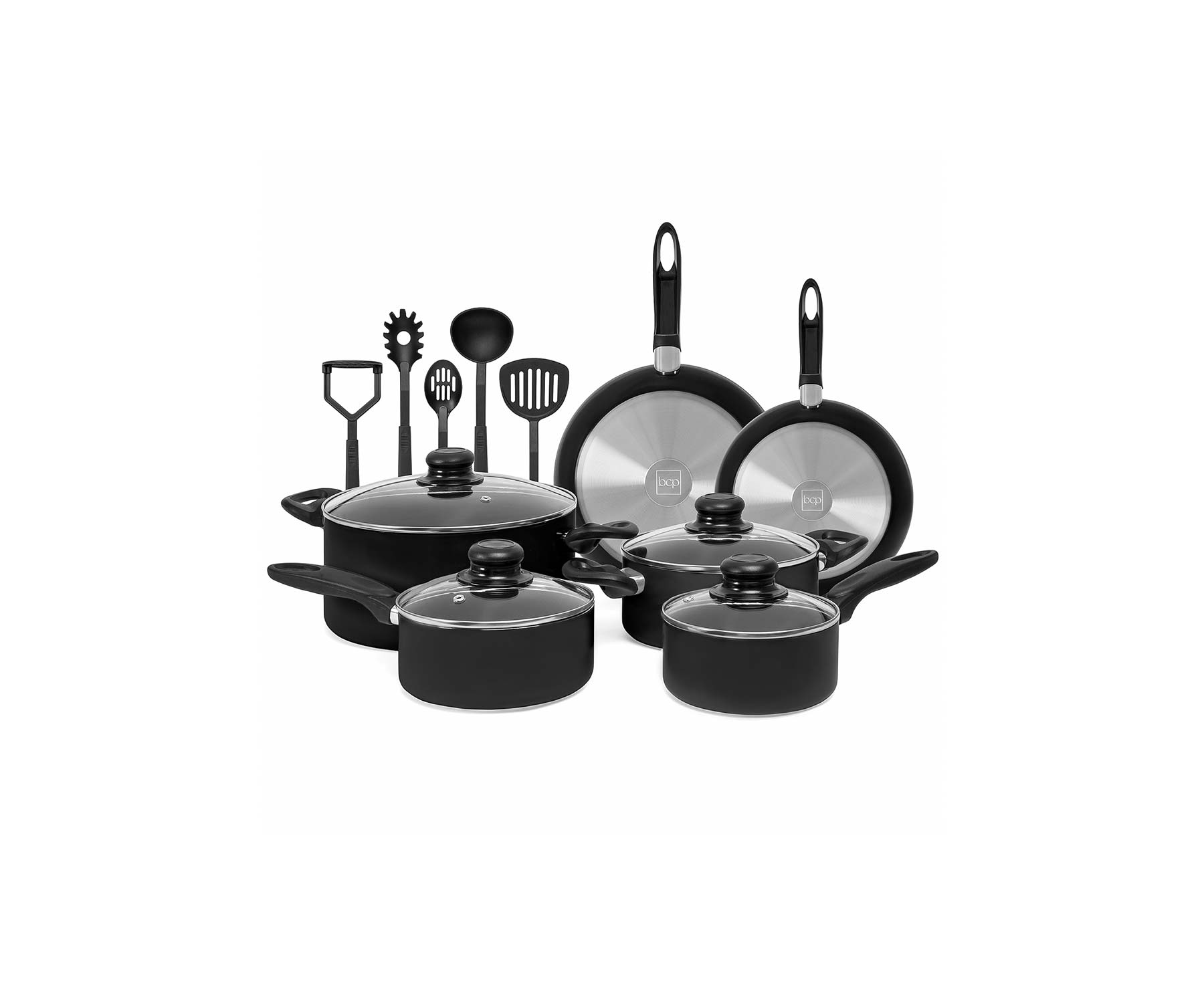 Gifts for Couples: 15-Piece Nonstick Aluminum Stovetop Oven Cookware Set