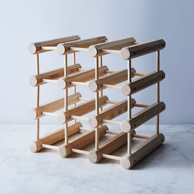 Gifts for Couples: Ash Wood 12-Bottle Wine Rack