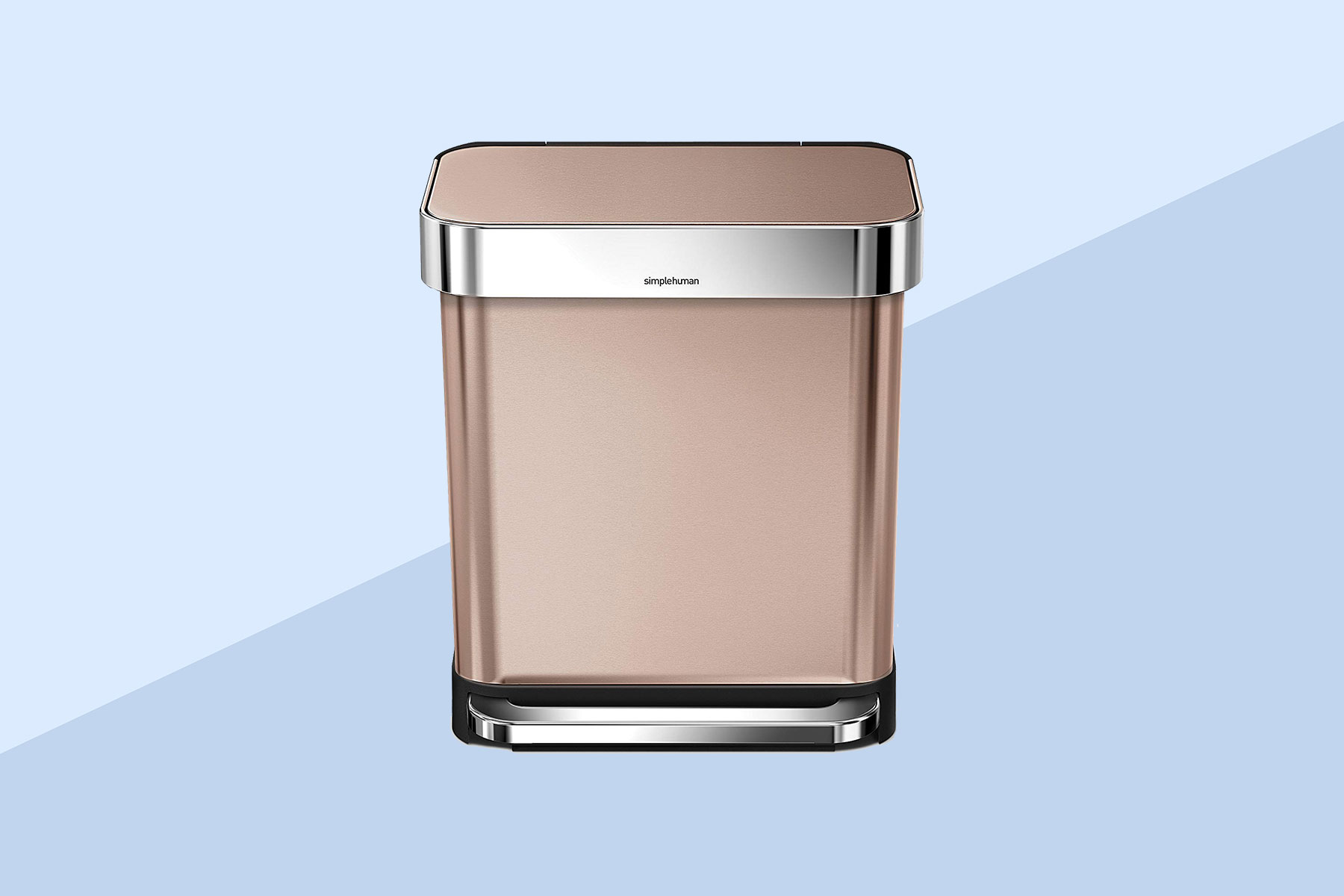 simplehuman Rose Gold Stainless Steel Trash Can