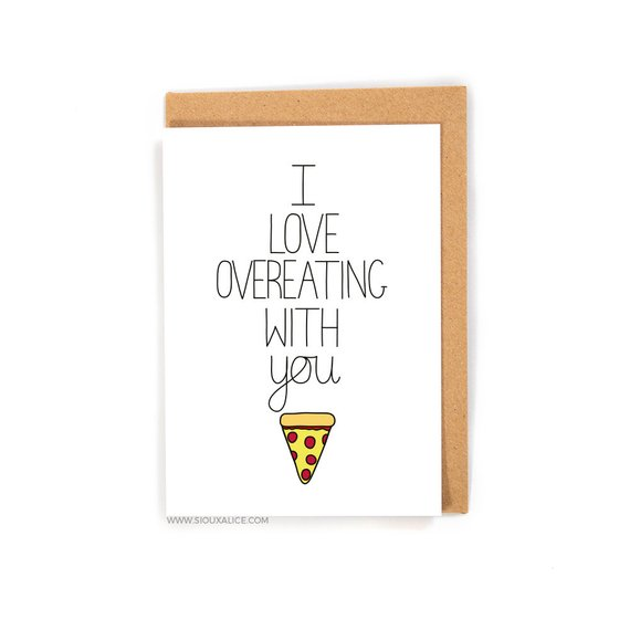 Gift Ideas for Men: Funny Cards for Valentine's Day on Etsy