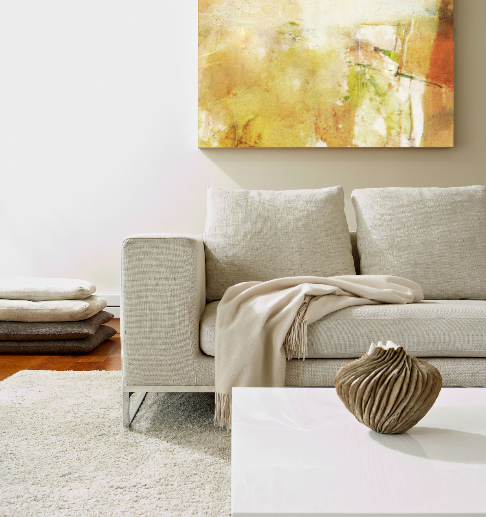 Neutral paint colors - living room with neutral paint colors