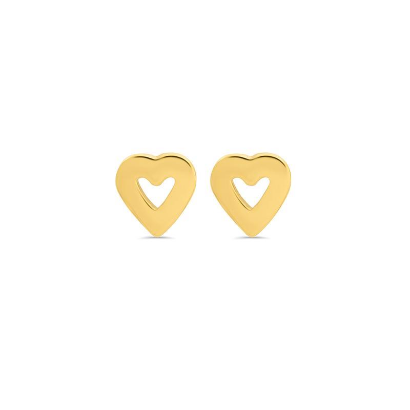 Jennifer Meyer Mini Gold Heart Studs