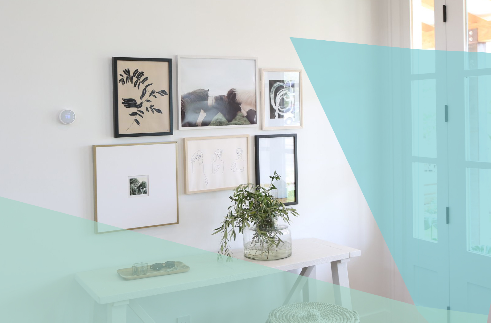 The Best Places to Buy Affordable Art Online, entryway with art