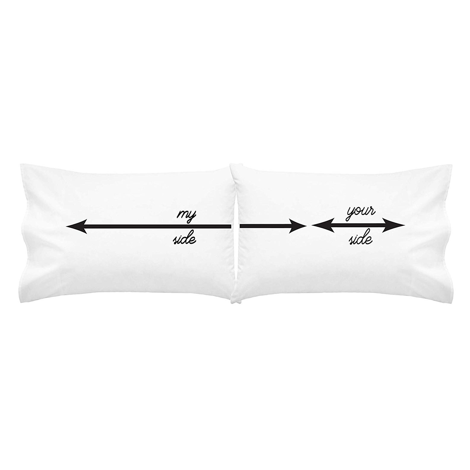 Funny Valentine's Day Gifts: Your Side, My Side Pillowcases