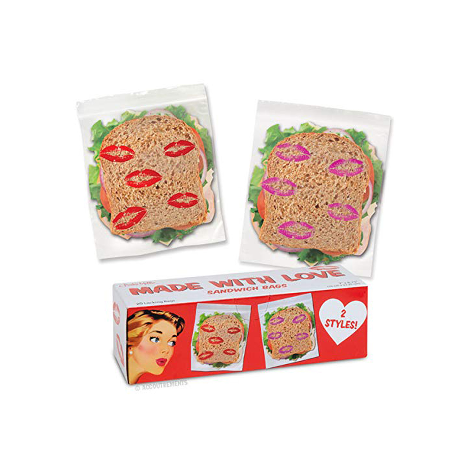 Funny Valentine's Day Gifts: Made With Love Sandwich Bags