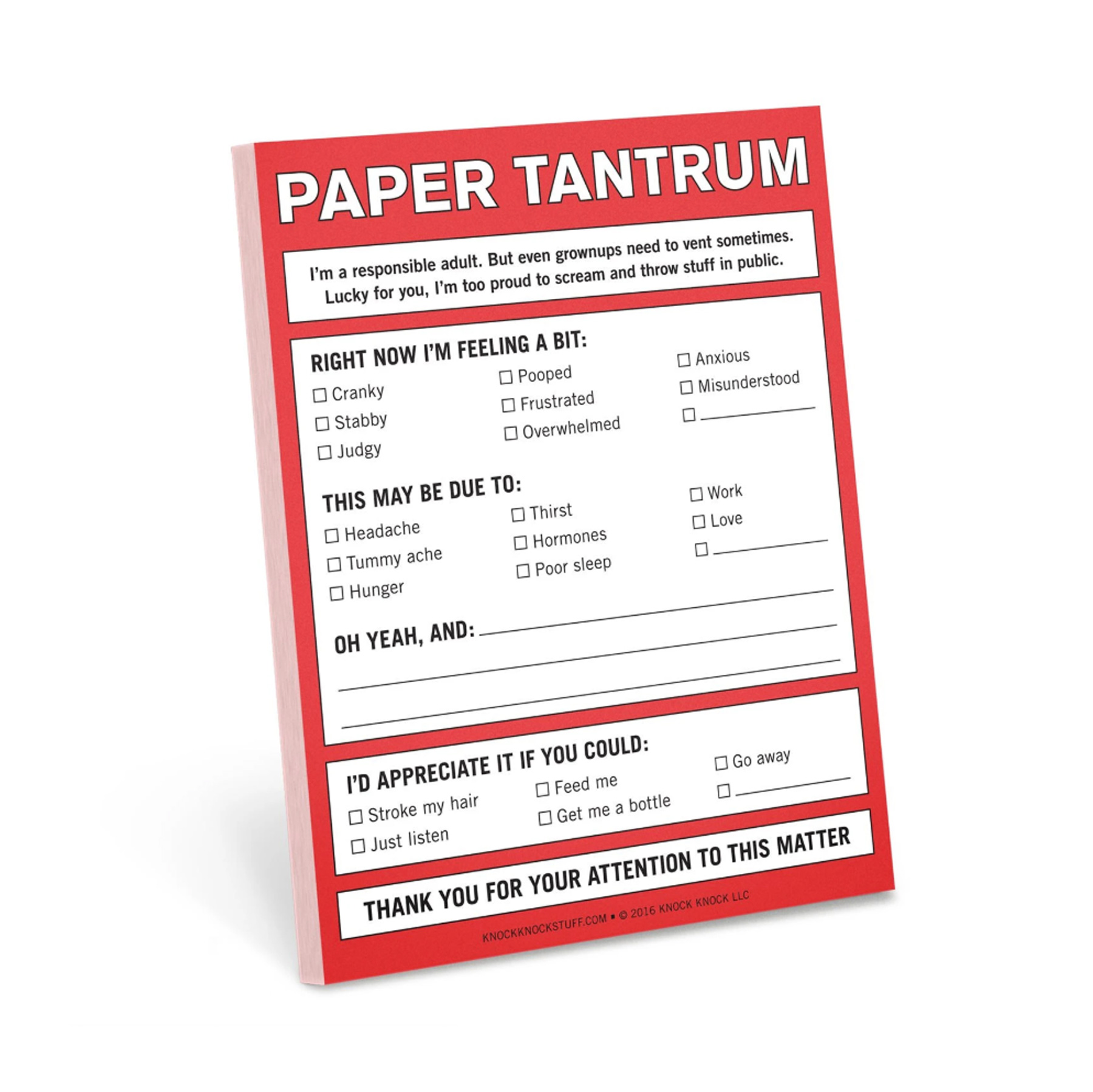 Funny Valentine's Day Gifts: Knock Knock Paper Tantrum Nifty Notes