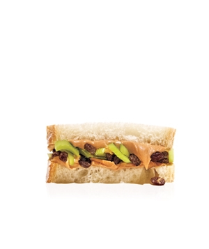 Peanut Butter, Celery, And Raisin Sandwich
