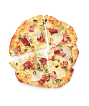 Potato and Bacon Pizzas