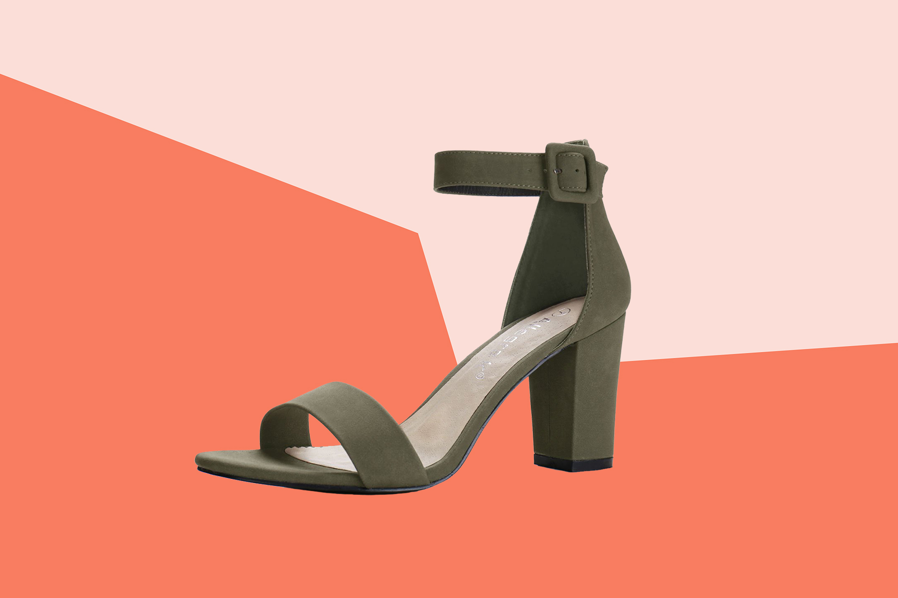 Allegra K Chunky Heel Buckle Ankle Strap Sandals