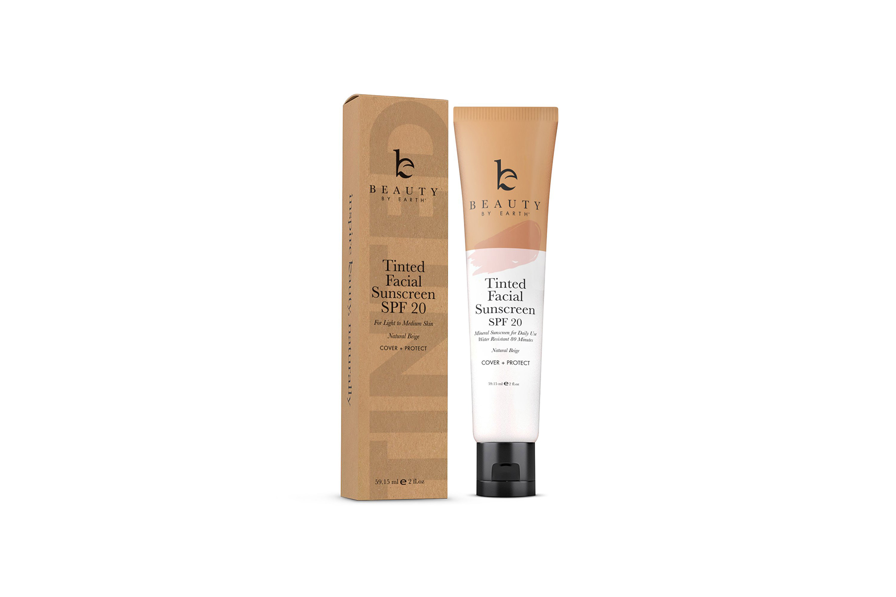 Beauty by Earth Tinted Sunscreen and Moisturizer
