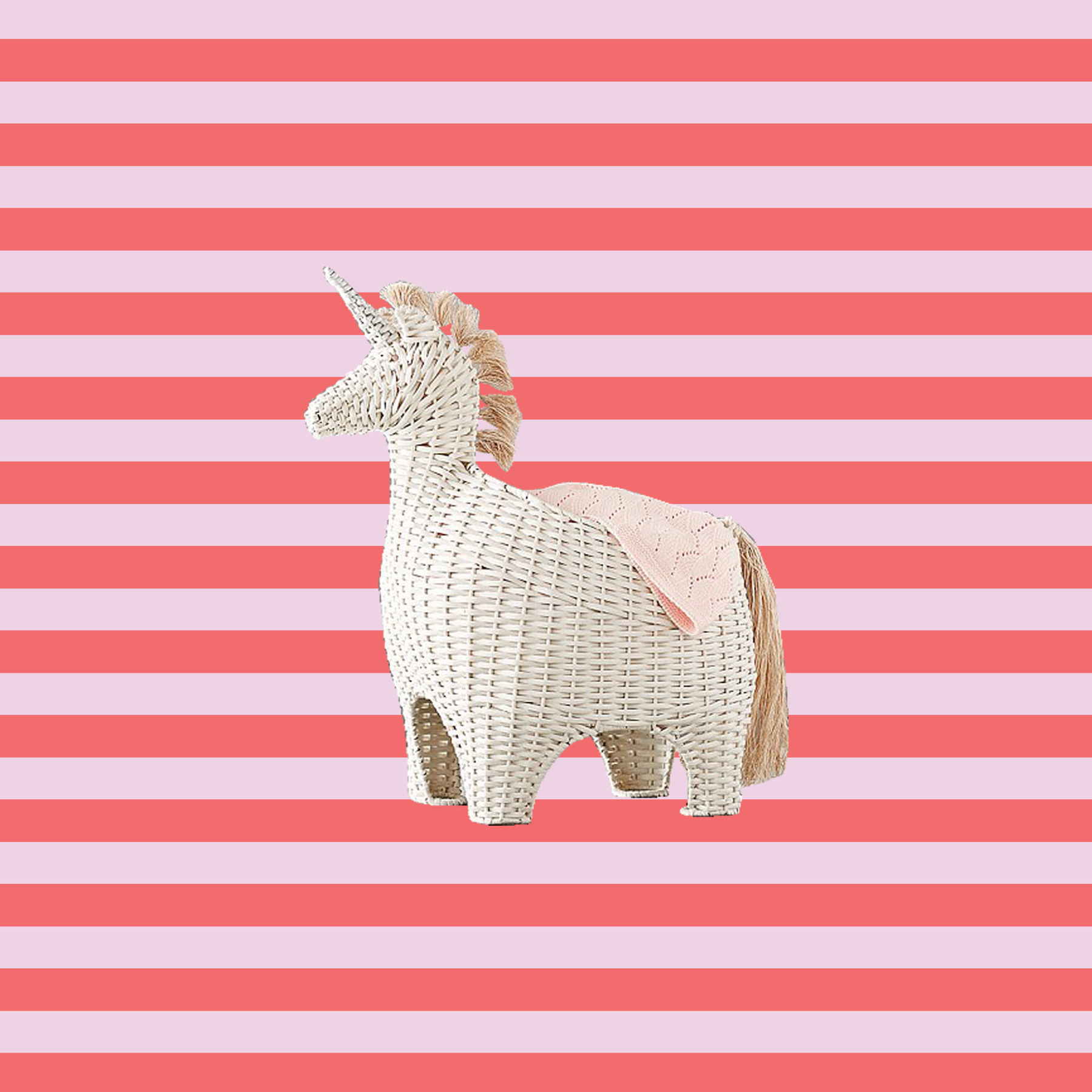 Toy storage ideas - icon storage wicker unicorn
