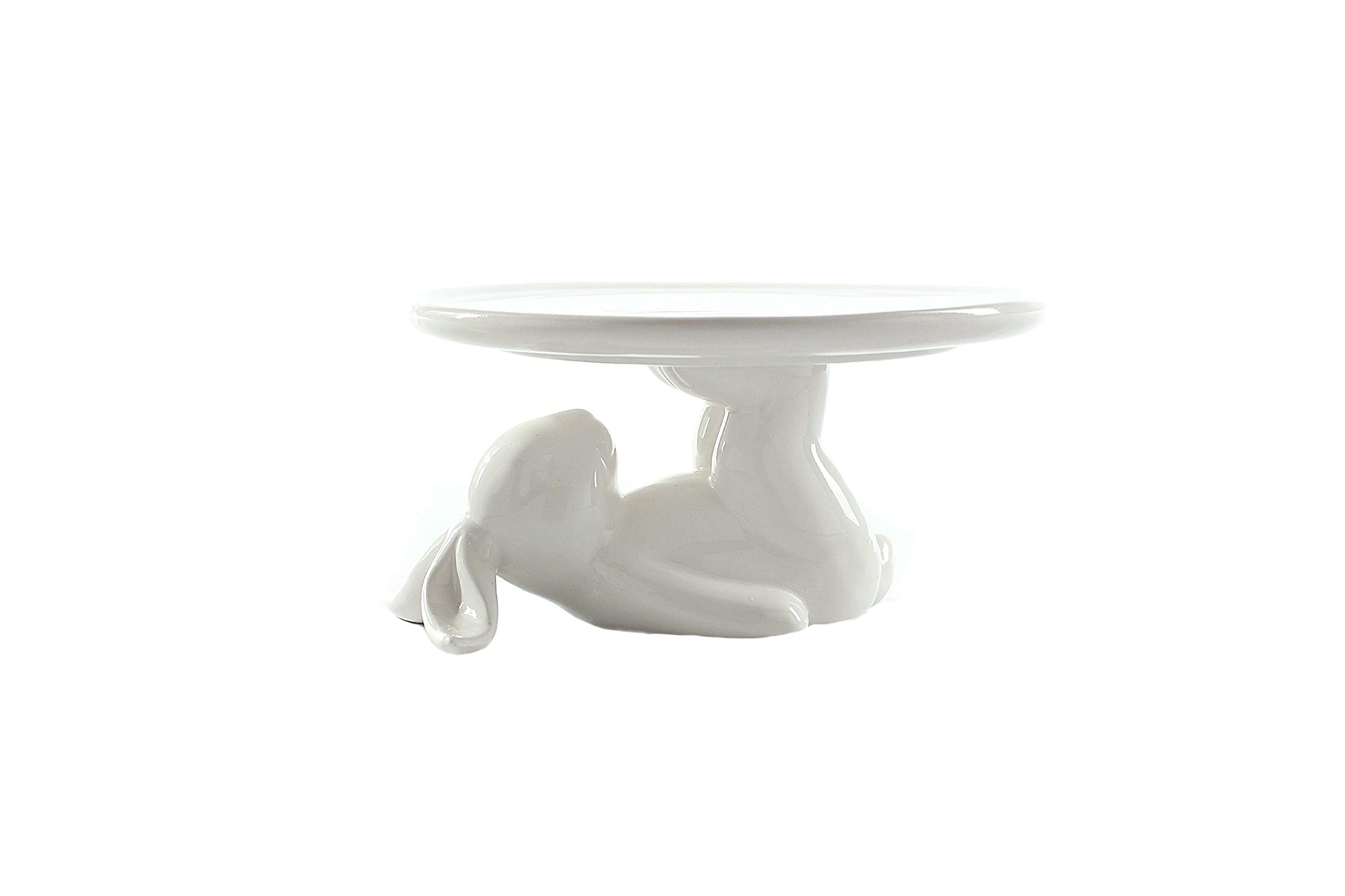 White Bunny Stand and Dish for Easter