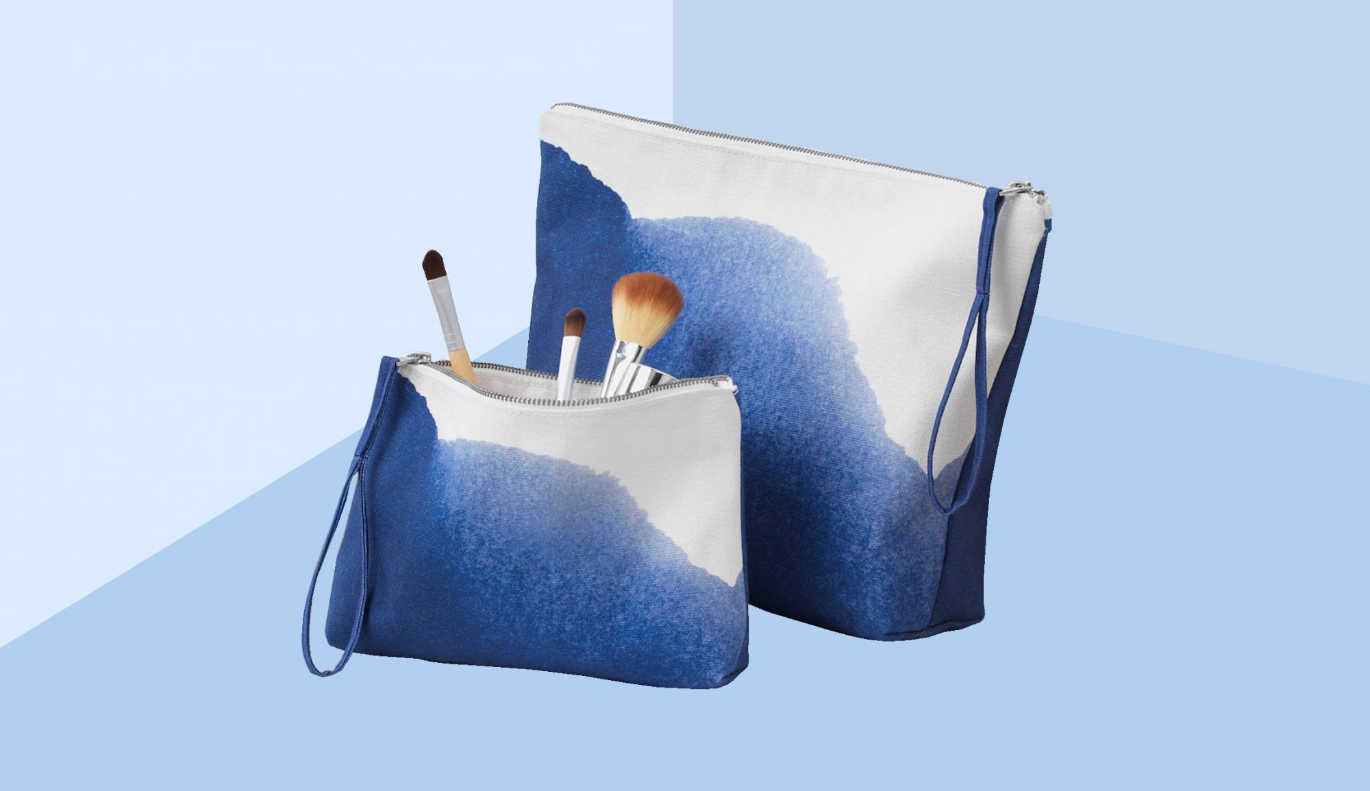 Best IKEA Organizers, Tankvard Collection blue and white makeup bag